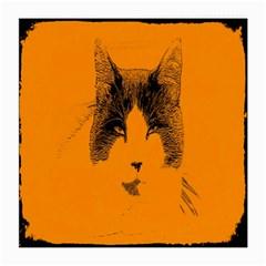 Cat Graphic Art Medium Glasses Cloth