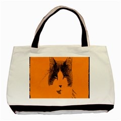 Cat Graphic Art Basic Tote Bag (Two Sides)