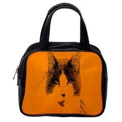 Cat Graphic Art Classic Handbags (One Side)