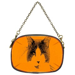 Cat Graphic Art Chain Purses (one Side)