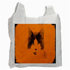 Cat Graphic Art Recycle Bag (two Side)