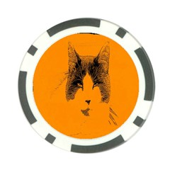 Cat Graphic Art Poker Chip Card Guard (10 pack)