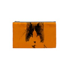 Cat Graphic Art Cosmetic Bag (Small)