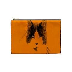 Cat Graphic Art Cosmetic Bag (Medium)