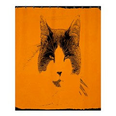 Cat Graphic Art Shower Curtain 60  X 72  (medium)