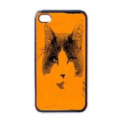 Cat Graphic Art Apple Iphone 4 Case (black)