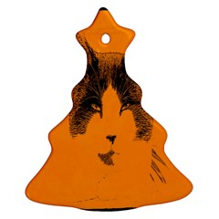 Cat Graphic Art Christmas Tree Ornament (two Sides)
