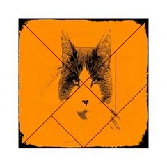 Cat Graphic Art Acrylic Tangram Puzzle (6  X 6 )