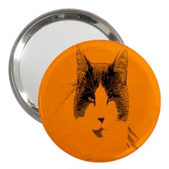 Cat Graphic Art 3  Handbag Mirrors