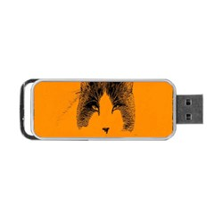 Cat Graphic Art Portable Usb Flash (two Sides)