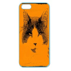 Cat Graphic Art Apple Seamless iPhone 5 Case (Color)
