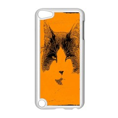 Cat Graphic Art Apple iPod Touch 5 Case (White)
