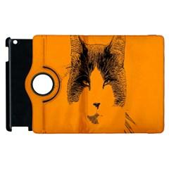 Cat Graphic Art Apple Ipad 3/4 Flip 360 Case