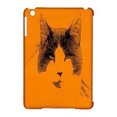 Cat Graphic Art Apple iPad Mini Hardshell Case (Compatible with Smart Cover)