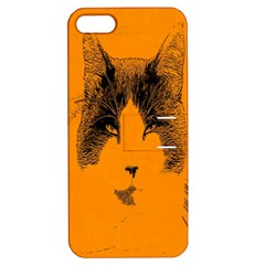 Cat Graphic Art Apple iPhone 5 Hardshell Case with Stand