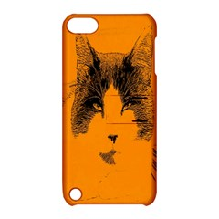 Cat Graphic Art Apple Ipod Touch 5 Hardshell Case With Stand