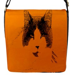 Cat Graphic Art Flap Messenger Bag (s)