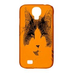 Cat Graphic Art Samsung Galaxy S4 Classic Hardshell Case (pc+silicone)