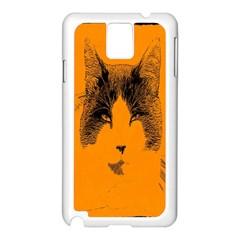 Cat Graphic Art Samsung Galaxy Note 3 N9005 Case (white)