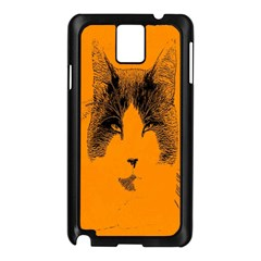 Cat Graphic Art Samsung Galaxy Note 3 N9005 Case (black)