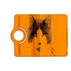 Cat Graphic Art Kindle Fire Hd (2013) Flip 360 Case