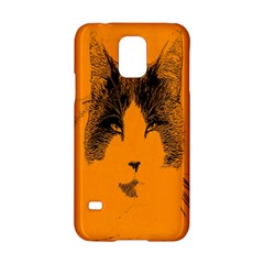 Cat Graphic Art Samsung Galaxy S5 Hardshell Case
