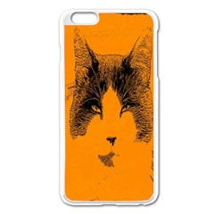 Cat Graphic Art Apple Iphone 6 Plus/6s Plus Enamel White Case