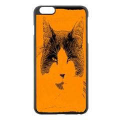 Cat Graphic Art Apple Iphone 6 Plus/6s Plus Black Enamel Case