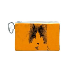 Cat Graphic Art Canvas Cosmetic Bag (S)