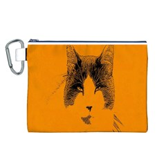 Cat Graphic Art Canvas Cosmetic Bag (L)