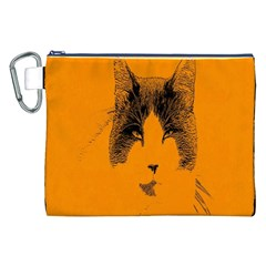 Cat Graphic Art Canvas Cosmetic Bag (XXL)