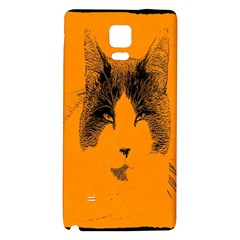 Cat Graphic Art Galaxy Note 4 Back Case
