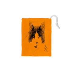 Cat Graphic Art Drawstring Pouches (XS)