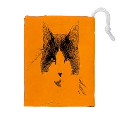 Cat Graphic Art Drawstring Pouches (Extra Large)