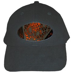 Abstract Lighted Wallpaper Of A Metal Starburst Grid With Orange Back Lighting Black Cap