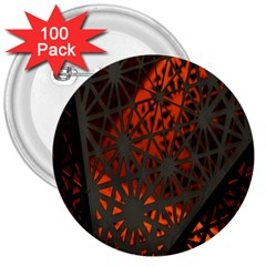 Abstract Lighted Wallpaper Of A Metal Starburst Grid With Orange Back Lighting 3  Buttons (100 Pack)
