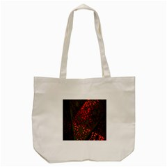 Abstract Lighted Wallpaper Of A Metal Starburst Grid With Orange Back Lighting Tote Bag (cream)