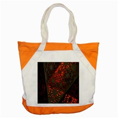 Abstract Lighted Wallpaper Of A Metal Starburst Grid With Orange Back Lighting Accent Tote Bag