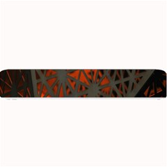Abstract Lighted Wallpaper Of A Metal Starburst Grid With Orange Back Lighting Small Bar Mats