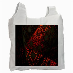Abstract Lighted Wallpaper Of A Metal Starburst Grid With Orange Back Lighting Recycle Bag (Two Side)