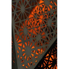 Abstract Lighted Wallpaper Of A Metal Starburst Grid With Orange Back Lighting 5.5  x 8.5  Notebooks