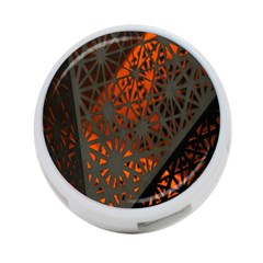 Abstract Lighted Wallpaper Of A Metal Starburst Grid With Orange Back Lighting 4-Port USB Hub (One Side)