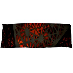 Abstract Lighted Wallpaper Of A Metal Starburst Grid With Orange Back Lighting Body Pillow Case Dakimakura (two Sides)