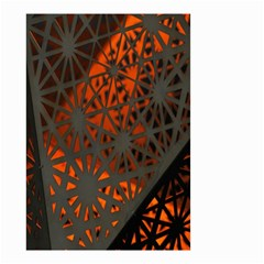 Abstract Lighted Wallpaper Of A Metal Starburst Grid With Orange Back Lighting Small Garden Flag (Two Sides)