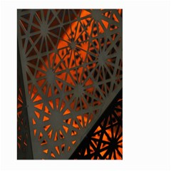 Abstract Lighted Wallpaper Of A Metal Starburst Grid With Orange Back Lighting Large Garden Flag (Two Sides)