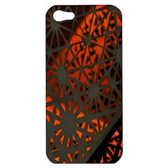 Abstract Lighted Wallpaper Of A Metal Starburst Grid With Orange Back Lighting Apple iPhone 5 Hardshell Case