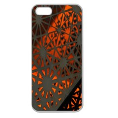 Abstract Lighted Wallpaper Of A Metal Starburst Grid With Orange Back Lighting Apple Seamless Iphone 5 Case (clear)