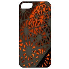 Abstract Lighted Wallpaper Of A Metal Starburst Grid With Orange Back Lighting Apple Iphone 5 Classic Hardshell Case
