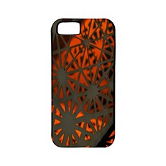 Abstract Lighted Wallpaper Of A Metal Starburst Grid With Orange Back Lighting Apple iPhone 5 Classic Hardshell Case (PC+Silicone)