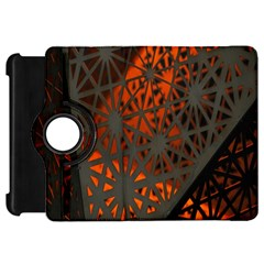 Abstract Lighted Wallpaper Of A Metal Starburst Grid With Orange Back Lighting Kindle Fire HD 7